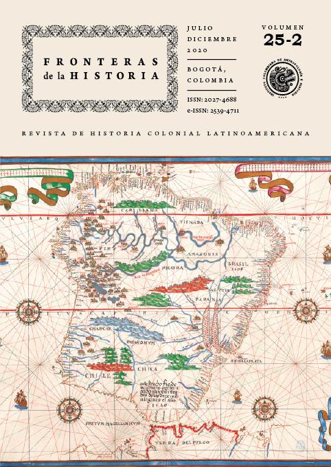 Detalle del Mapa de Suramérica. Atlas de Joan Martínez publicado en 1587. Colección particular de Nara Fuentes